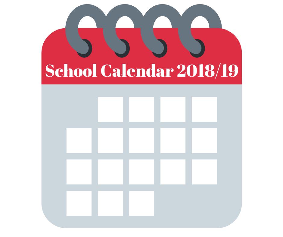 CALENDAR school 2018
