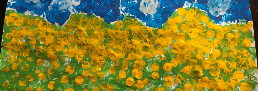 Maria's Pointilism Painting of Gorse